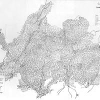Detail of Blaenau Ffestiniog map by David Nash